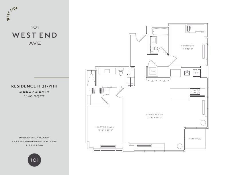 Floor plan for 28H
