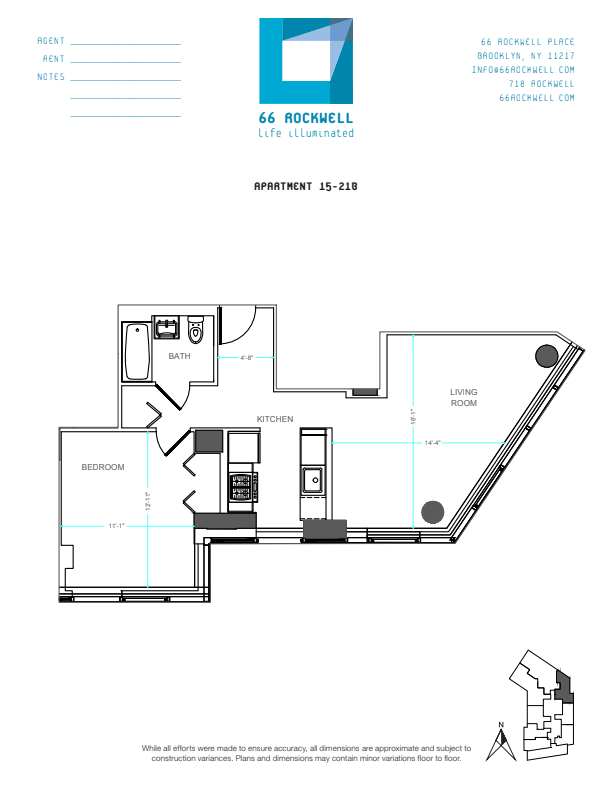 Floor plan for 19B