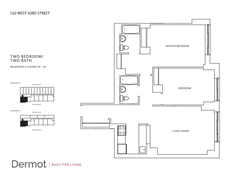 Floor plan for 17A