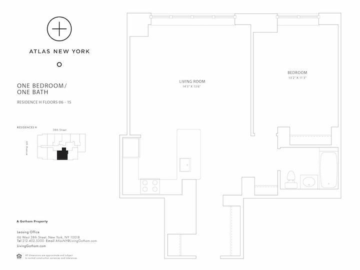 Atlas New York #15H Floorplan