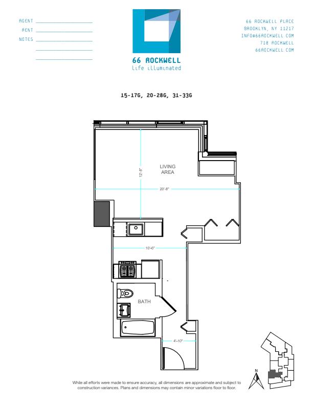 Floor plan for 22G