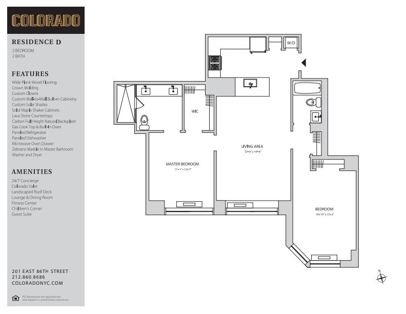 Floor plan for 16D