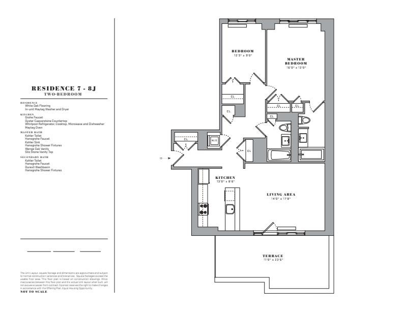 Floor plan for 7J