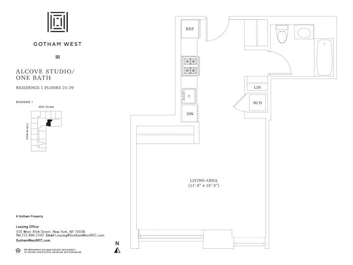 Gotham West #2501 Floorplan