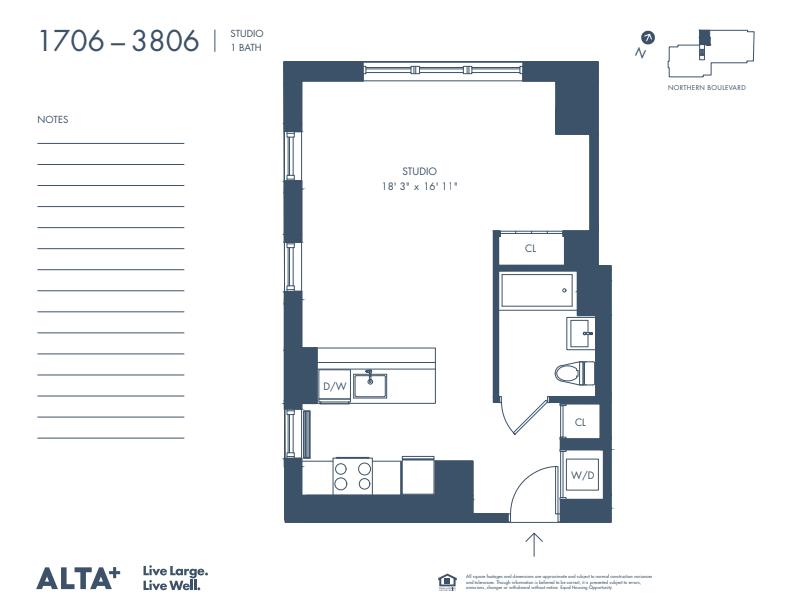 Floorplan of Unit #3206