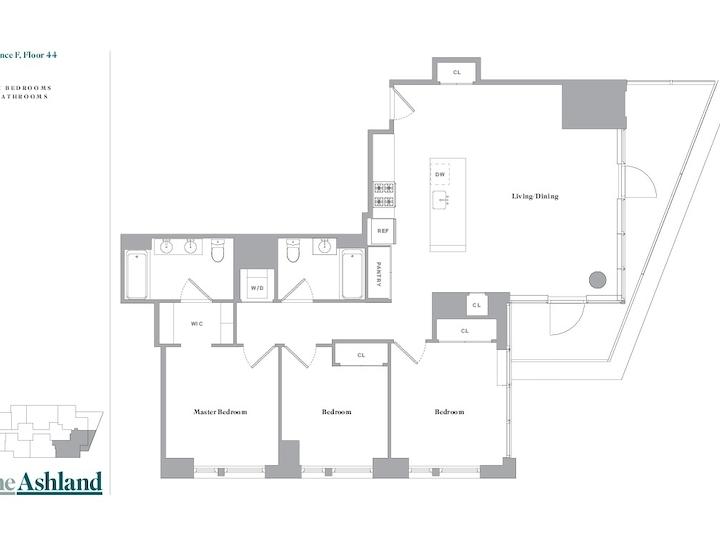 The Ashland #44F Floorplan