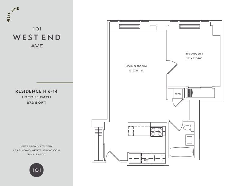 Floor plan for 8H