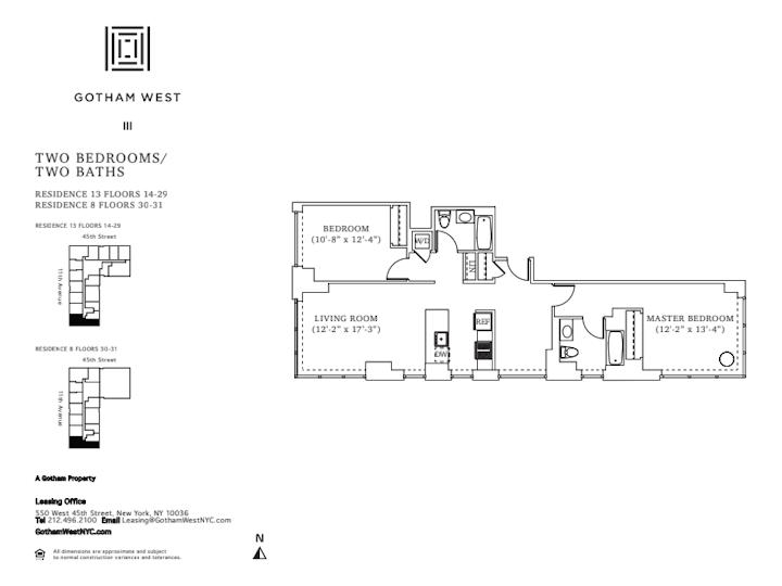 Gotham West #1813 Floorplan