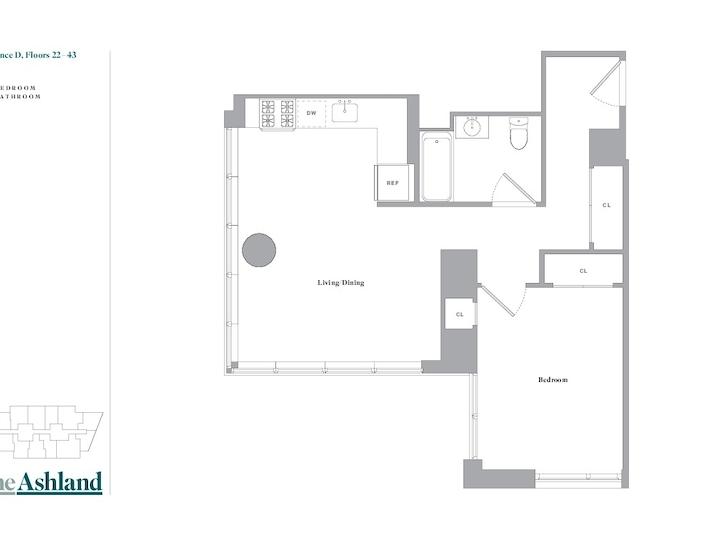 The Ashland #39D Floorplan