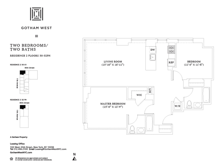 Gotham West #PH202 Floorplan