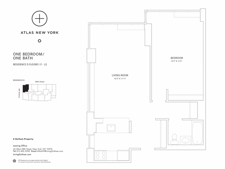 Atlas New York #21D Floorplan