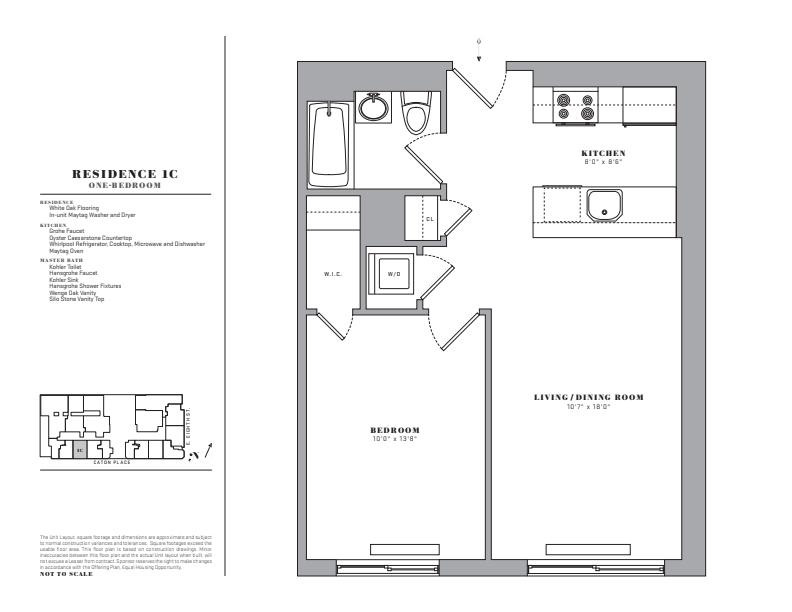 Floor plan for 1C