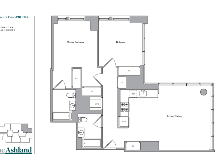 The Ashland #PH1G Floorplan