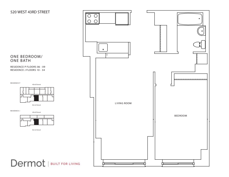 Floor plan for 24J